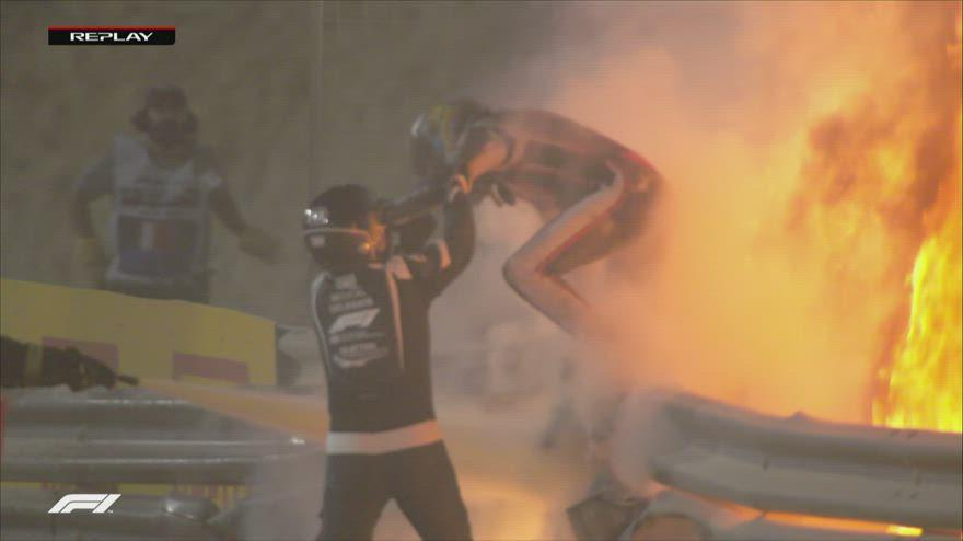 F1, Grosjean: pauroso incidente al GP del Bahrain