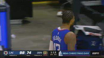 NBA, tripla di Paul George vs. Denver