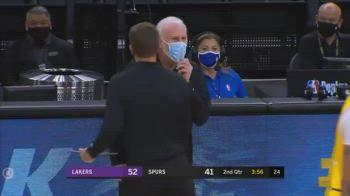 NBA, l'espulsione di Gregg Popovich contro i Lakers