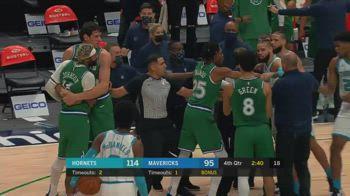 NBA, rissa in Dallas-Charlotte: espulsi Johnson e Martin