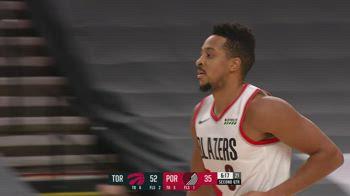 NBA, i 31 punti di CJ McCollum contro Toronto