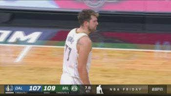 NBA Highlights: Milwaukee-Dallas 112-109