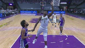 NBA, i 31 punti di Zion Williamson contro Sacramento