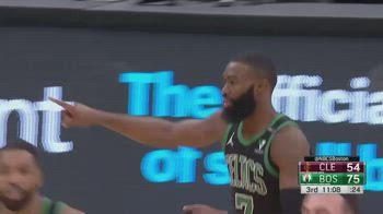 NBA, i 33 punti in 19 minuti di Jaylen Brown contro i Cavs