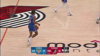 NBA, i 31 punti di Immanuel Quickley contro Portland