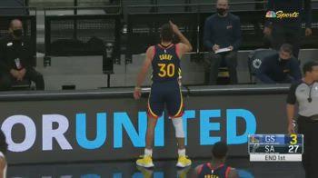 NBA: la tripla senza senso sulla sirena di Steph Curry