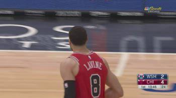 NBA, i 35 punti di Zach LaVine contro Washington