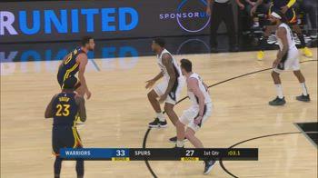 NBA, i 32 punti di Steph Curry contro San Antonio