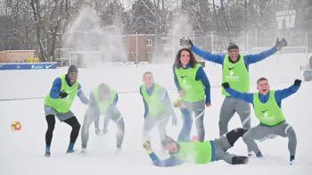 Hertha, allenamento sotto la neve
