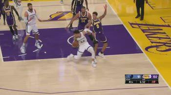 NBA: la simulazione di Kyle Kuzma contro Memphis