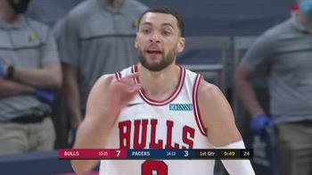 NBA, i 30 punti di Zach LaVine contro Indiana