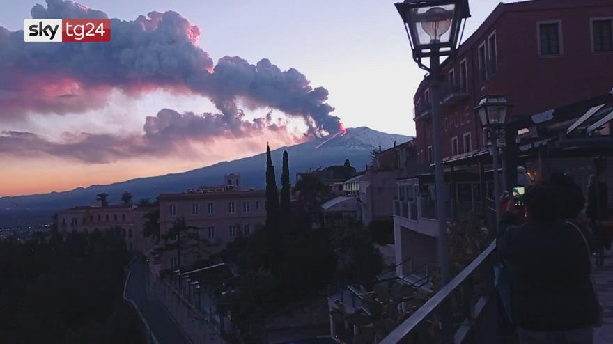 Etna: la spettacolare eruzione del 16 febbraio