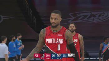 NBA, la tripla decisiva di Lillard contro OKC