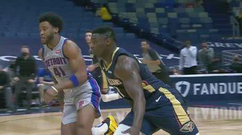 NBA, 36 punti per Zion Williamson contro Detroit