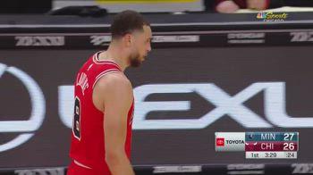 NBA, i 35 punti di Zach LaVine contro Minnesota