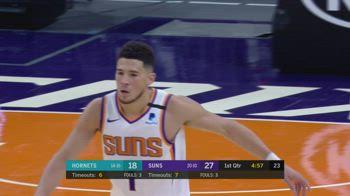 NBA, i 33 punti di Devin Booker contro Charlotte