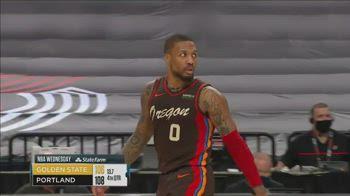 NBA, tripla e sfondamento: Lillard decisivo vs. GSW