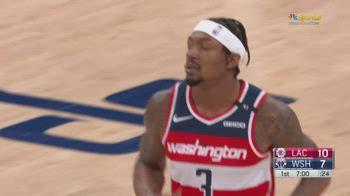 NBA, 33 punti di Bradley Beal contro i Clippers