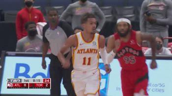 NBA, i 38 punti di Trae Young contro Toronto