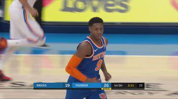 NBA, i 32 punti di RJ Barrett contro i Thunder