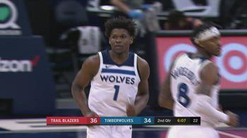 NBA, 34 di Anthony Edwards vs. Portland