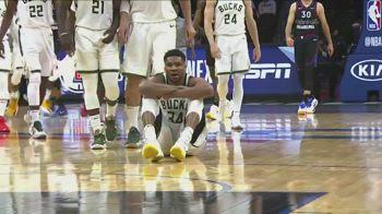 NBA, Giannis segna il canestro decisivo in OT e si siede