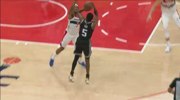NBA, De'Aaron Fox e il canestro della vittoria vs Wizards