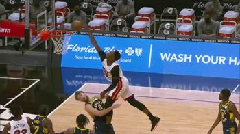 NBA, la schiacciata di Adebayo su Sabonis