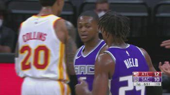 NBA, i 37 punti di De'Aaron Fox contro Atlanta