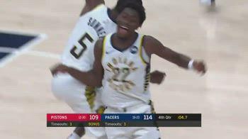 NBA, il canestro della vittoria di LeVert vs. Pistons