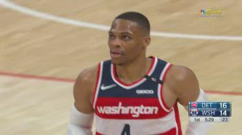 NBA, la tripla doppia di Russell Westbrook contro Detroit