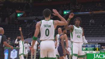 NBA, i 34 punti di Jayson Tatum contro New Orleans