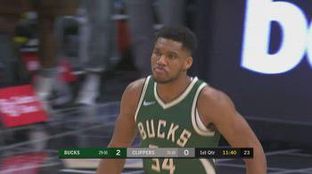 NBA, i 32 punti di Giannis Antetokounmpo contro i Clippers