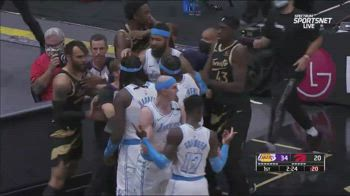 NBA, Lakers e Raptors vengono alle mani