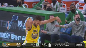 NBA, 47 punti di Steph Curry contro Boston