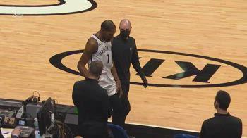 NBA, l'infortunio alla coscia sinistra di Kevin Durant