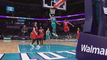 NBA, la schiacciata di Miles Bridges vs. Portland