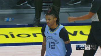 NBA, i 36 punti di Ja Morant contro Denver
