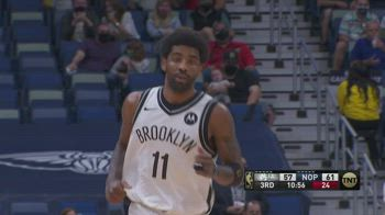 NBA, i 32 punti di Kyrie Irving contro New Orleans