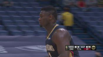 NBA, i 33 punti di Zion Williamson contro Brooklyn