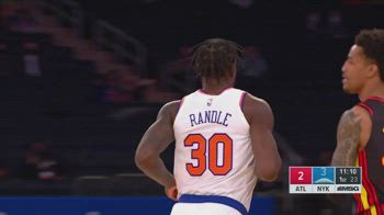 NBA, i 40 punti di Julius Randle contro Atlanta