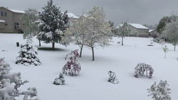 Neve di primavera in Ohio. VIDEO