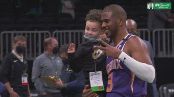 NBA, la foto di Chris Paul con il figlio di Tatum
