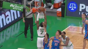NBA, 39 punti per Jaylen Brown contro OKC