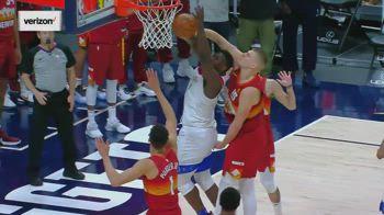 NBA, la stoppata decisiva di Jokic su Zion: vince Denver