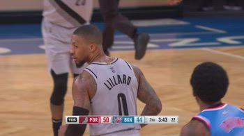 NBA, i 32 punti di Damian Lillard contro Brooklyn
