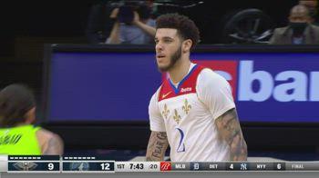 NBA, 33 punti di Lonzo Ball contro Minnesota
