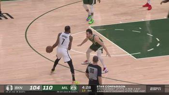 NBA, i 42 punti di Kevin Durant contro Milwaukee