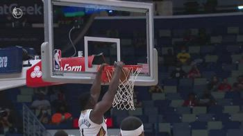 NBA, i 32 punti di Zion Williamson contro Golden State