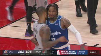 NBA Highlights Portland-LA Lakers 106-101_2000054